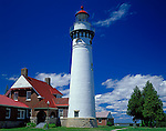 Schoolcraft County, MI<br /> Seul Choix Point Light (1895) on Lake Michigan near Gulliver, Michigan's Upper Peninsula