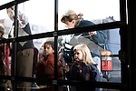 January 24, 2008. Anderson, SC.. Presidential candidate and former US senator, John Edwards campaigned across the western part of South Carolina today in an effort to shore up support before Saturday's primary election.. Supporters try to see Edwards at a fire house in . Anderson, SC.