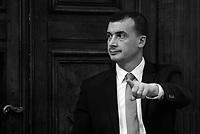 Roma, 17 Gennaio 2019<br /> Rocco Casalino.<br /> Conferenza stampa al termine del Consiglio dei Ministri che ha approvato il decreto legge su Reddito di cittadinanza e pensioni