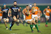 Monty Ioane of Benetton Rugby in possession. European Rugby Champions Cup match, between Benetton Rugby and Bath Rugby on January 20, 2018 at the Municipal Stadium of Monigo in Treviso, Italy. Photo by: Patrick Khachfe / Onside Images