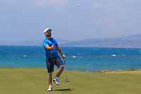 Andy Sullivan (ENG) on the 7th green during the Pro-Am of the Rocco Forte Sicilian Open 2018 on Wednesday 4th May 2018.<br /> Picture:  Thos Caffrey / www.golffile.ie<br /> <br /> All photo usage must carry mandatory copyright credit (&copy; Golffile | Thos Caffrey)