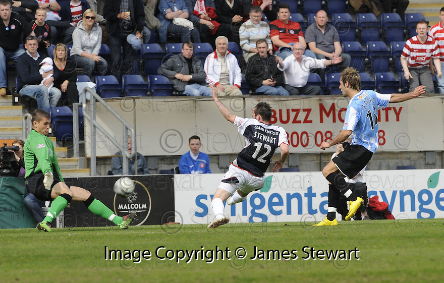 24/04/2010   Copyright  Pic : James Stewart.sct_jsp008_falkirk_v_hamilton  .::  ROBERT OLEJNIK SAVES FROM FLAVIO PAIXAO ::  .James Stewart Photography 19 Carronlea Drive, Falkirk. FK2 8DN      Vat Reg No. 607 6932 25.Telephone      : +44 (0)1324 570291 .Mobile              : +44 (0)7721 416997.E-mail  :  jim@jspa.co.uk.If you require further information then contact Jim Stewart on any of the numbers above.........