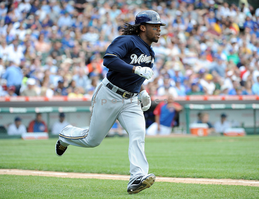 RICKIE WEEKS, of the Milwaukee Brewers, in action during the Brewers game against the Chicago Cubs on June 16, 2011 at  Wrigley Field in Chicago, Illinois. The Cubs beat the Brewers 12-7.