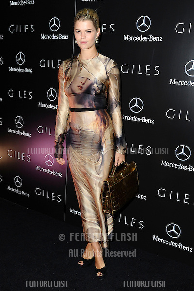 Pixie Geldof.arrives for the Giles after show party, Covent garden, London19/09/2011  Picture by Steve Vas/Featureflash
