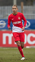 Mehdi Zerkane of AS Monaco FC Youth during the UEFA Youth League round of 16 match between Tottenham Hotspur U19 and Monaco at Lamex Stadium, Stevenage, England on 21 February 2018. Photo by Andy Rowland.