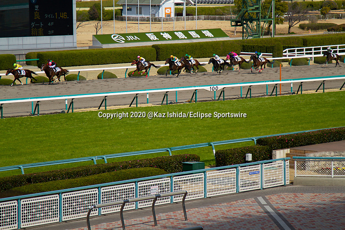 TAKARAZUKA,JAPAN-MAR 07: Race is running without fans at Hanshin Racecourse on March 7,2020 in Takarazuka,Hyogo,Japan. Kaz Ishida/Eclipse Sportswire/CSM