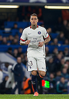 Gregory van der Wiel of Paris Saint-Germain comes on as a substitute during the UEFA Champions League Round of 16 2nd leg match between Chelsea and PSG at Stamford Bridge, London, England on 9 March 2016. Photo by Andy Rowland.