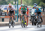 August 10, 2017 - Colorado Springs, Colorado, U.S. -  Men's pro cycling action during the opening stage of the inaugural Colorado Classic cycling race, Colorado Springs, Colorado.