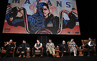 "HOLLYWOOD - MAY 29: Co-Creator/Executive Producer/Writer Kurt Sutter, Co-Creator/Executive Producer/Writer/Director Elgin James, and cast members JD Pardo, Clayton Cardenas, Edward James Olmos, Sarah Bolger, and Danny Pino attend the FYC event for FX's ""Mayans M.C."" at Neuehouse Hollywood on May 29, 2019 in Hollywood, California. (Photo by Frank Micelotta/FX/PictureGroup)"