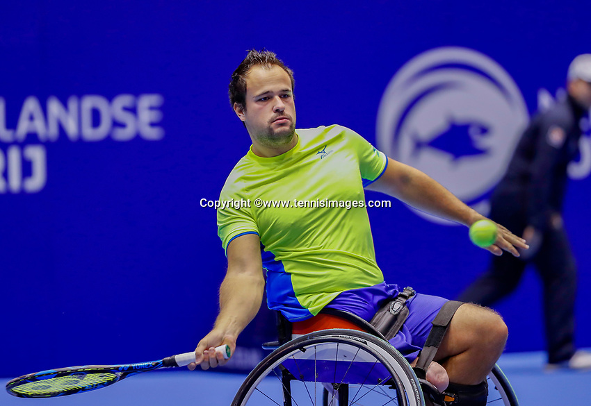 Rotterdam, Netherlands, December 15, 2017, Topsportcentrum, Ned. Loterij NK Tennis, Wheelchair  Tom Egberink (NED) <br /> Photo: Tennisimages/Henk Koster
