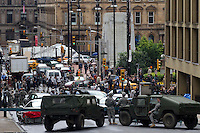 Glasgow, Scotland - A general view of the Brad Pitt film during a seen from the film World War Z..Picture: Maurice McDonald/Universal News And Sport (Scotland). 24 August 2011. www.unpixs.com..