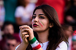 A soccer fan of Iran shows supports for their team during the AFC Asian Cup UAE 2019 Group D match between Vietnam (VIE) and I.R. Iran (IRN) at Al Nahyan Stadium on 12 January 2019 in Abu Dhabi, United Arab Emirates. Photo by Marcio Rodrigo Machado / Power Sport Images
