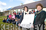 EXTENSION: Staff and pupils of Coolick NS in Kilcummin examining the plans for a major extension at the school, with teachers Tara O'Donoghue and Irene O'Keeffe (Principal).