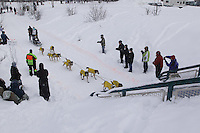 Colleen Robertia Saturday, March 3, 2012  Ceremonial Start of Iditarod 2012 in Anchorage, Alaska.