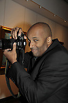 DJ Shawn Cheatham at Color of Beauty Awards hosted by VH1's Gossip Table's Delaina Dixon and Maureen Tokeson-Martin on February 28, 2015 with red carpet, awards and cocktail reception at Ana Tzarev Gallery, New York City, New York.  (Photo by Sue Coflin/Max Photos)