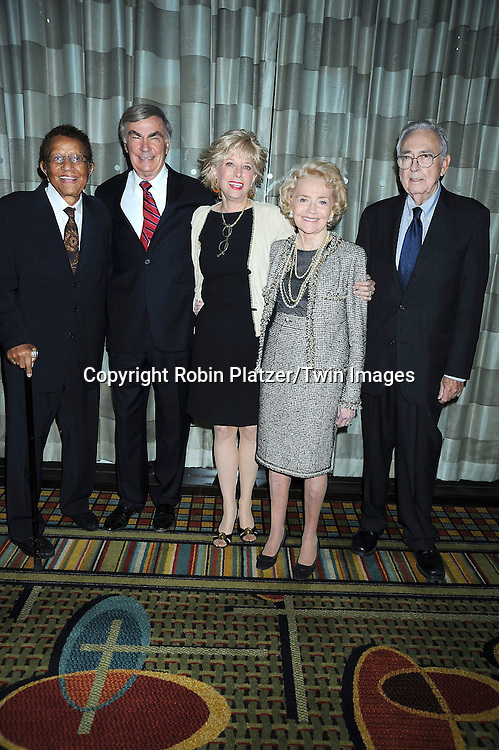 Honorees Hal Jackson, Sam Donaldson, Lesley Stahl and Agnes Nixon and Norman Corwin attending The Library of American Broadcasting's 8th Annual Giants of Broadcasting Awards on October 6, 2010 at The Grand Hyatt Hotel in New York City. .photo by Robin Platzer/ Twin Images