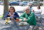 Racecaller Nigel Casserly and wife Allie out and about in downtown Aiken the day before the races.