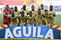 MONTERIA - COLOMBIA, 07-04-2019: Jugadores de Rionegro posan para una foto previo al partido por la fecha 14 de la Liga Águila I 2019 entre Jaguares de Córdoba F.C. y Rionegro Águilas jugado en el estadio Jaraguay de la ciudad de Montería. / Players of Rionegro pose to a photo prior the match for the date 14 as part Aguila League I 2019 between Jaguares de Cordoba F.C. and Rionegro Aguilas played at Jaraguay stadium in Monteria city. Photo: VizzorImage / Andres Felipe Lopez / Cont