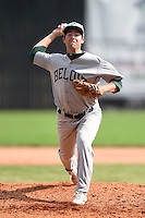 Beloit Snappers pitcher Sam Roberts (6) delivers a pitch during a game against the Clinton LumberKings on August 17, 2014 at Ashford University Field in Clinton, Iowa.  Clinton defeated Beloit 4-3.  (Mike Janes/Four Seam Images)