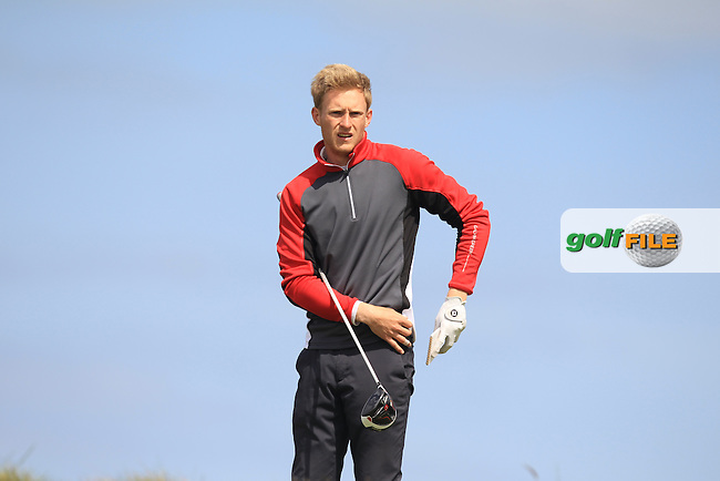 Patrick Ruff (ENG) on the 14th tee during Round 1 of the Flogas Irish Amateur Open Championship at Royal Dublin on Thursday 5th May 2016.<br /> Picture:  Thos Caffrey / www.golffile.ie