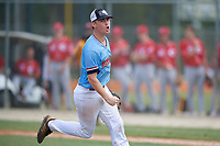 Daniel Smith (2) during the WWBA World Championship at the Roger Dean Complex on October 10, 2019 in Jupiter, Florida.  Daniel Smith attends East Coweta High School in Newnan, GA and is committed to Covenant College.  (Mike Janes/Four Seam Images)