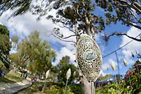 Carol Robinson, Pods, Shapeshifter 2014, Civic Gardens, Lower Hutt, Wellington, New Zealand on Sunday 2 March2014.<br /> Photo by Masanori Udagawa.<br /> www.photowellington.photoshelter.com.