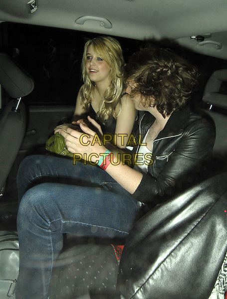 PEACHES GELDOF.Leaving the Dorchester Bar Launch Party, The Dorchester, London, England, June 27th 2006..half length in car shot.Ref: SW.www.capitalpictures.com.sales@capitalpictures.com.©Stephen Walters/Capital Pictures.