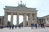 Duchess Kate and Prince William visit The Brandenburg Gate