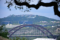A view of the Loop 360 bridge from 16 during round 3 of the World Golf Championships, Dell Technologies Match Play, Austin Country Club, Austin, Texas, USA. 3/24/2017.<br /> Picture: Golffile | Ken Murray<br /> <br /> <br /> All photo usage must carry mandatory copyright credit (&copy; Golffile | Ken Murray)