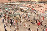 Djemaa el-Fna, main square, Marrakesh, Morocco, market
