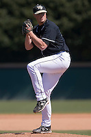 Brad Kledzik (27) of the Wake Forest Demon Deacons in action versus the Clemson Tigers during the first game of a double header at Gene Hooks Stadium in Winston-Salem, NC, Sunday, March 9, 2008.