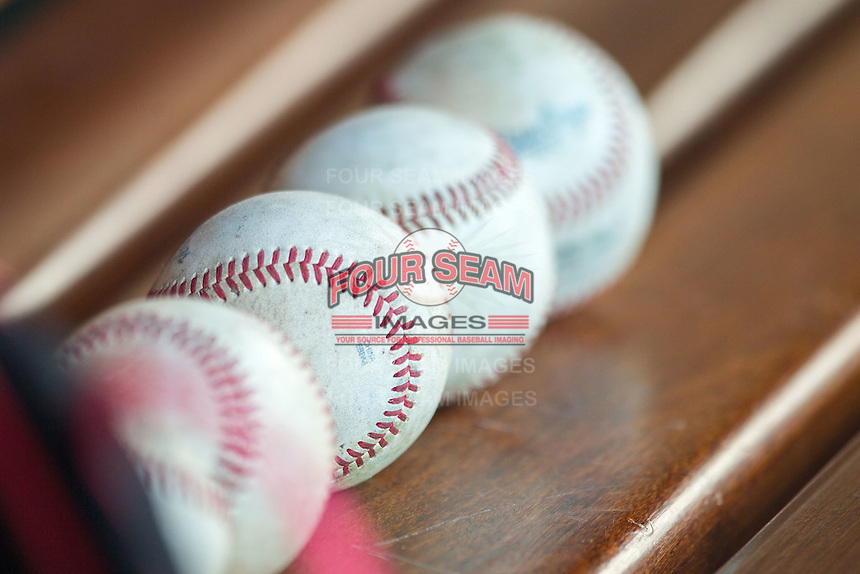 Baseballs on May 18, 2016 at Dow Diamond in Midland, Michigan. (Andrew Woolley/Four Seam Images)
