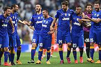 esultanza fine gara Juventus Celebration <br /> Madrid 13-05-2015 Football Calcio Champions League Semifinal Real Madrid - Juventus foto Matteo Gribaudi/Image Sport/Insidefoto