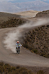 Motorcycle rider Laia Sanz from Spain riding her KTM bike during the 5th stage of the Dakar Rally 2016 in the Bolivian Altiplano.