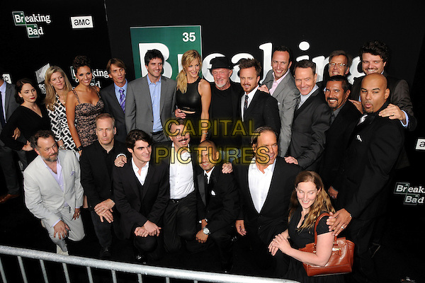 &quot;Breaking Bad&quot; Cast and Crew<br /> &quot;Breaking Bad&quot; Final Episodes Los Angeles Premiere Screening held at Sony Pictures Studios, Culver City, California, USA, 24th July 2013.<br /> group shot <br /> CAP/ADM/BP<br /> &copy;Byron Purvis/AdMedia/Capital Pictures
