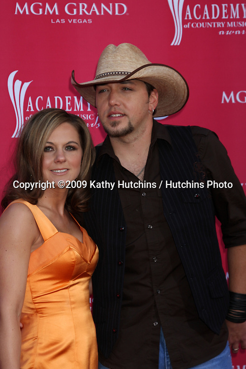 Jason Aldean arriving at the 44th Academy of Country Music Awards at the MGM Grand Arena in  Las Vegas, NV on April 5, 2009.©2009 Kathy Hutchins / Hutchins Photo....                .