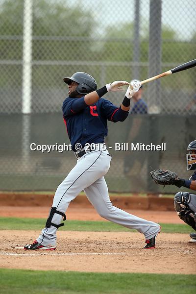 Yandy Diaz - Cleveland Indians 2016 spring training (Bill Mitchell)