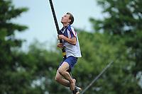 FIERJLEPPEN: JOURE: 18-06-2014, ROC Friese Poort Competitie, Junioren A, Bobby Zwaagman, ©foto Martin de Jong
