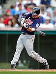 5 September 2009: Minnesota Twins' shortstop Nick Punto in action against the Cleveland Indians at Progressive Field in Cleveland, Ohio. The Twins defeated the Indians 4-1 in the second game of their three-game weekend series. Mandatory Credit: Ed Wolfstein Photo