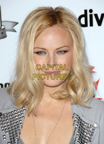 MALIN AKERMAN .at The First Annual Data Awards held at The Hollywood Palladium in Hollywood, California, USA, January 29th 2010.                                                                   .arrivals portrait headshot grey gray  leather studs studded silver.CAP/RKE/DVS.©DVS/RockinExposures/Capital Pictures.