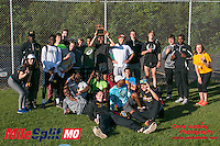 The Lafayette boys pose after their team title at the 2016 MSHSAA Class 5 District 2 Track and Field Meet at Ladue High School, St. Louis, Saturday, May 14.