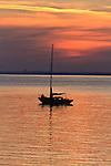 Evening calm in Totland Bay