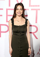 07 March 2019 - Westwood, California - Caitlin Carver. &quot;Five Feet Apart&quot; Los Angeles Premiere held at the Fox Bruin Theatre. <br /> CAP/ADM/FS<br /> &copy;FS/ADM/Capital Pictures