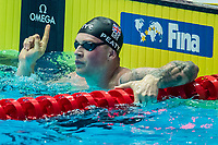 Adam Peaty of USA in act at men's 100m brestroke final during 18th Fina World Championships Gwangju 2019 at Nambu University Municipal Aquatics Centre, Gwangju, on 22  July 2019, Korea.  Photo by : Ike Li / Prezz Images