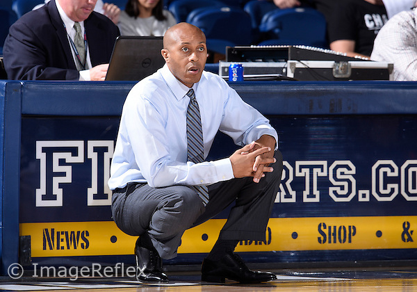 Florida International University Head Coach Anthony Evans during the game against Long Island University. FIU won the game 80-72 on November 25, 2015 at Miami, Florida.
