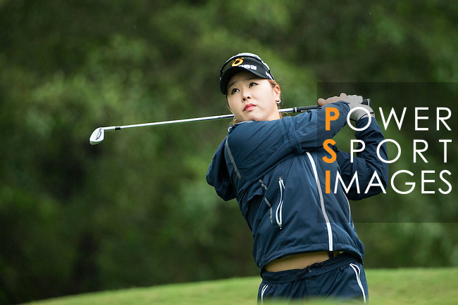 Yoon Ji Cho of South Korea tees off during Round 1 of the World Ladies Championship 2016 on 10 March 2016 at Mission Hills Olazabal Golf Course in Dongguan, China. Photo by Victor Fraile / Power Sport Images
