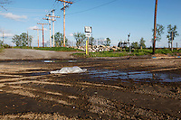 A sign points to State Highway 177 on the Isle Cape Girardeau casino site on Saturday, April 16, 2011 in Cape Girardeau, MO. Roads are being rerouted around the casino site.