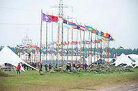 Over 150 flags are welcoming everyone to the fields of Rinkaby and World Scout Jamboree