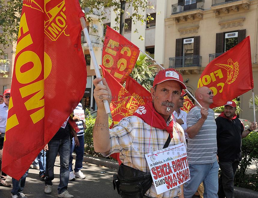 Palermo, general strike by the Civil service union CGIL.<br /> Palermo sciopero generale della funzione pubblica indetto dalla CGIL
