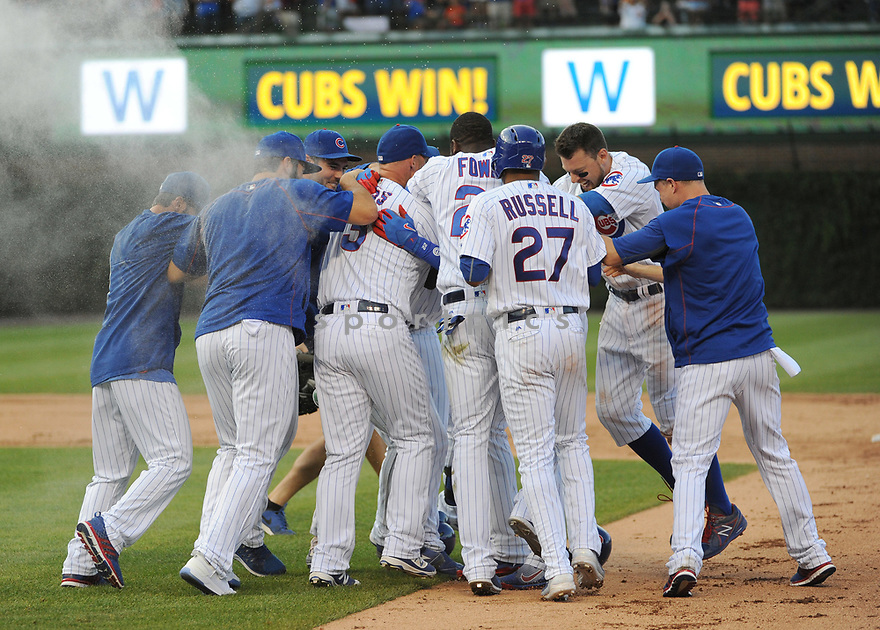Chicago Cubs miscellaneous during a game against the San Francisco Giants on September 4, 2016 at Wrigley Field in Chicago, IL. The Cubs beat the Giants 3-2.